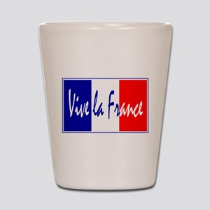 French Flag Vive La France Shot Glass