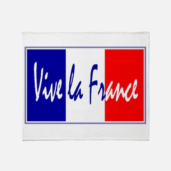 French Flag Vive La France Throw Blanket