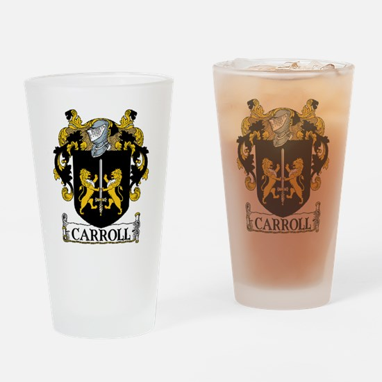 Carroll Coat of Arms Drinking Glass