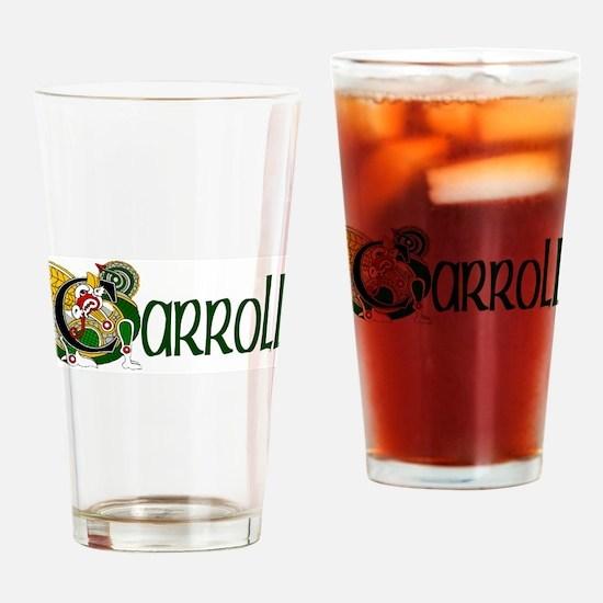 Carroll Celtic Dragon Drinking Glass
