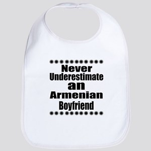 Never Underestimate An Armenian Bo Cotton Baby Bib
