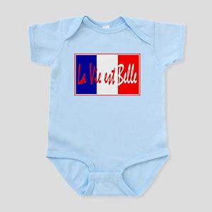 French Flag Vive La France Infant Bodysuit