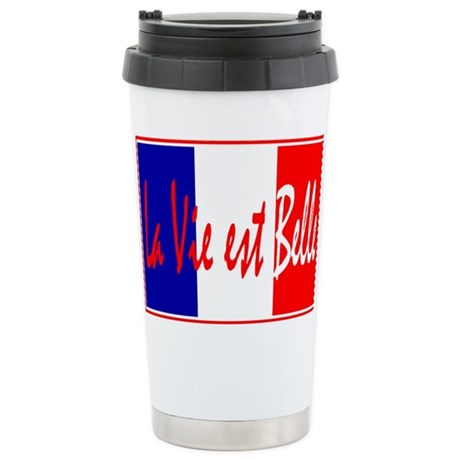 French Flag Vive La France Stainless Steel Travel