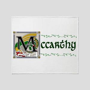 McCarthy Celtic Dragon Throw Blanket