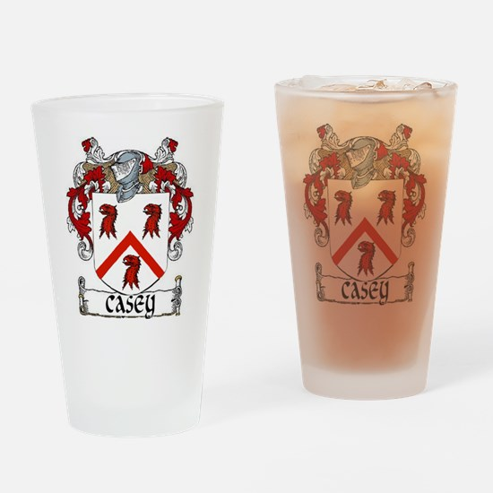 Casey Coat of Arms Drinking Glass