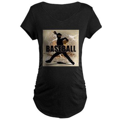 2011 Baseball 7 Maternity Dark T-Shirt
