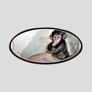 Baby chimp wildlife art Patch