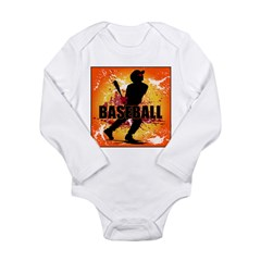 2011 Baseball 3 Long Sleeve Infant Bodysuit