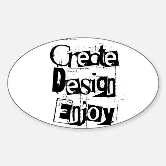 Create Design Enjoy Oval Decal