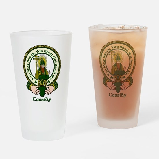 Cassidy Clan Motto Drinking Glass