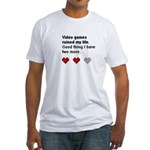 Video Games Ruined My life Fitted T-Shirt