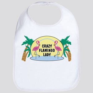 Crazy Flamingo Lady Baby Bib