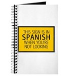 The Sign is in Spanish Journal
