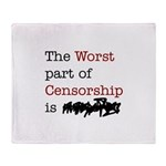 The Worst Part of Censorship Throw Blanket