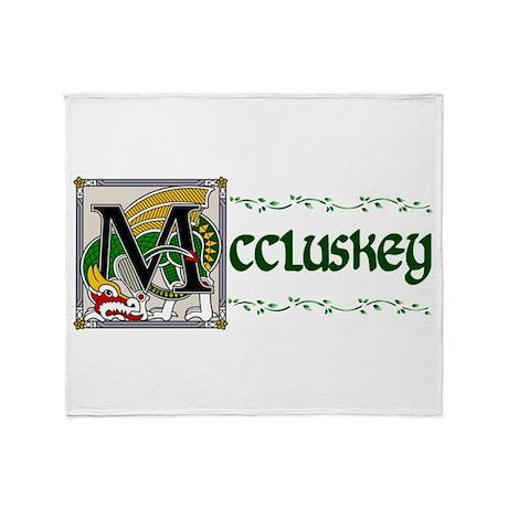 McCluskey Celtic Dragon Throw Blanket
