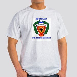 3rd Battalion 4th Marines with Text Light T-Shirt