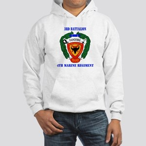 3rd Battalion 4th Marines with Text Hooded Sweatsh