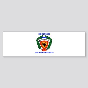 3rd Battalion 4th Marines with Text Sticker (Bumpe