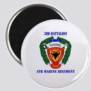 3rd Battalion 4th Marines with Text Magnet