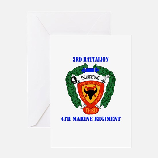3rd Battalion 4th Marines with Text Greeting Card