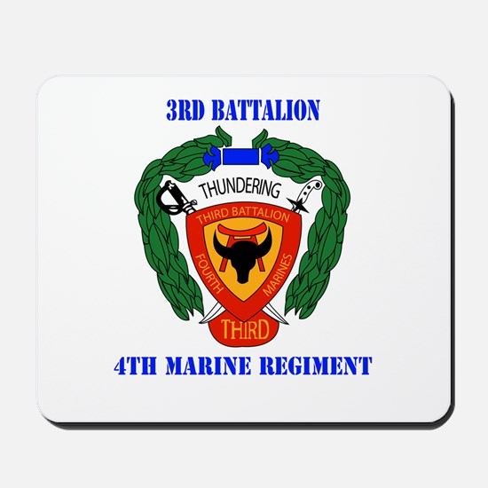 3rd Battalion 4th Marines with Text Mousepad