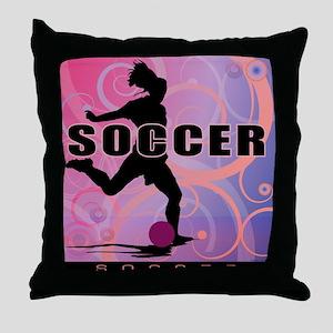 2011 Girls Soccer 2 Throw Pillow