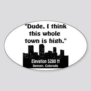 High City Sticker (Oval)