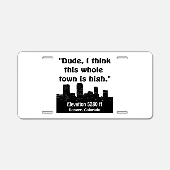 High City Aluminum License Plate