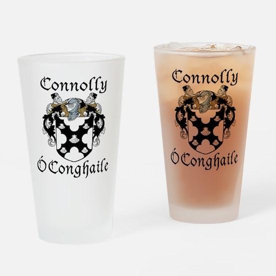 Connolly in Irish/English Drinking Glass