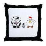 Cow Chicken Egg? Throw Pillow