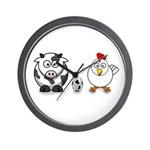 Cow Chicken Egg? Wall Clock