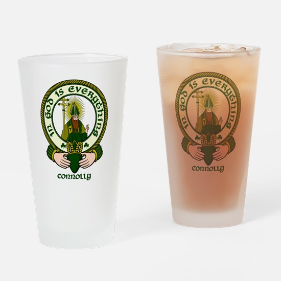 Connolly Clan Motto Drinking Glass