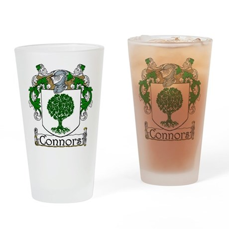 Connors Coat of Arms Drinking Glass