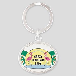Crazy Flamingo Lady Keychains