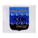 USS DACE Throw Blanket