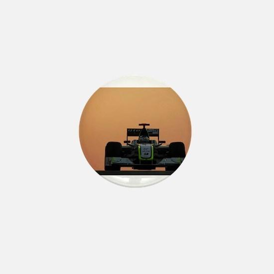 Unique Track race Mini Button