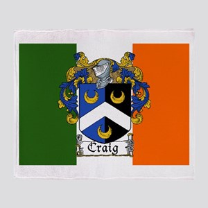 Craig Arms Irish Flag Throw Blanket