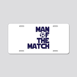 Man of the Match (Soccer) Aluminum License Plate