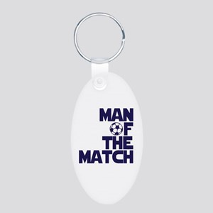Man of the Match (Soccer) Aluminum Oval Keychain