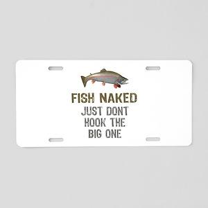 Fish Naked Aluminum License Plate