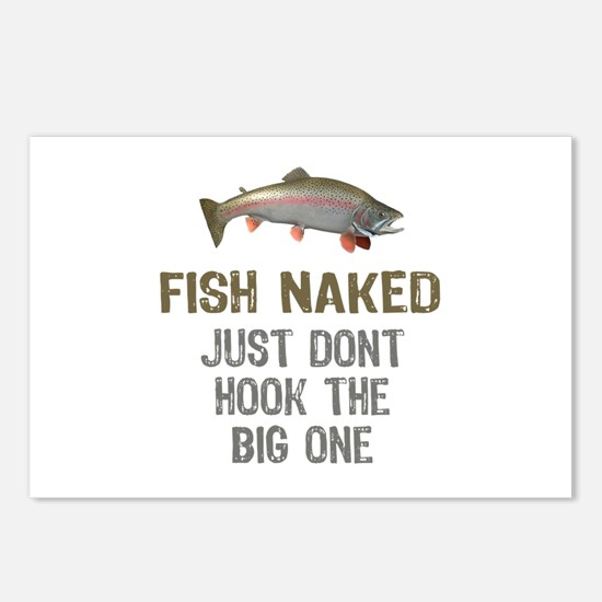 Fish Naked Postcards (Package of 8)