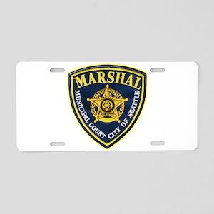 Seattle Marshal Aluminum License Plate