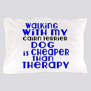 Walking With My Cairn Terrier Dog Pillow Case