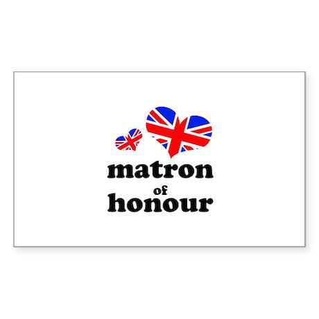 matron of honour (union jack) Sticker (Rectangle 5