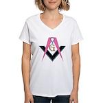 Lady Freemasons Women's V-Neck T-Shirt