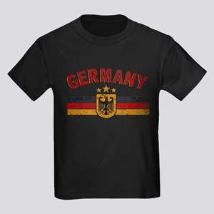 Germany Sports Shield Kids Dark T-Shirt