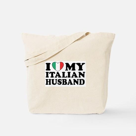 I Love My Italian Husband Tote Bag