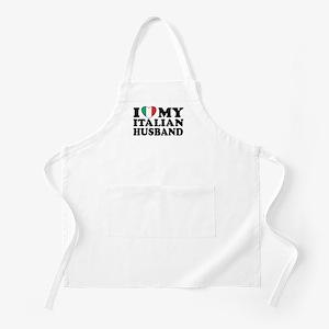 I Love My Italian Husband BBQ Apron