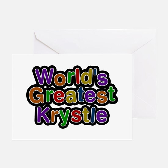 World's Greatest Krystle Greeting Card