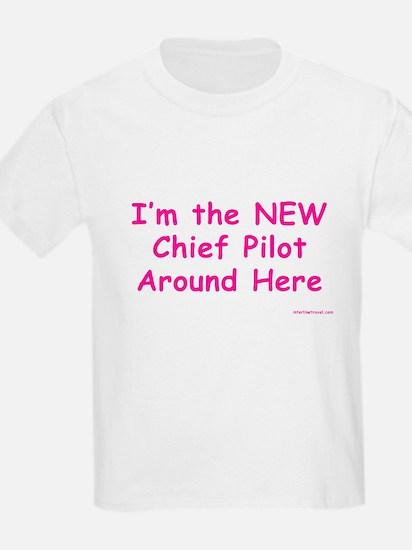 New Chief Pilot (Girl) Kids T-Shirt